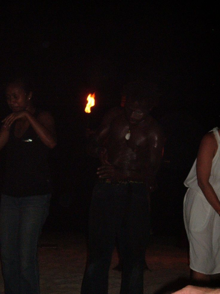 Fire Dancing on Erakor Island (everyone joined in at the end!)
