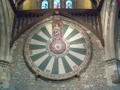 King Arthur's Round Table in Winchester Castle- This table hangs in the Great Hall at Winchester Castle. The Great Hall is the only part of the castle remaining from it's original 13th century castle. Winchester Castle was a victim of the British civil war. Legend has it, King Arthur ruled from the ground Winchester castle sits on. Fittingly, it was the birthplace of Henry VII's first son, Arthur.