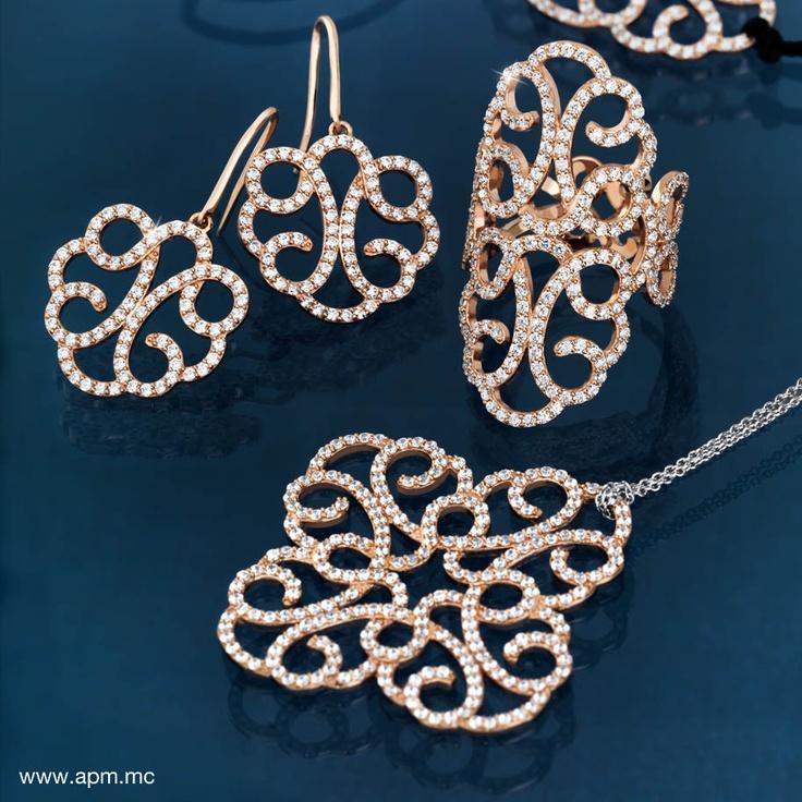 APM MONACO Rose Gold Earrings, Rings, Pendants, Necklace