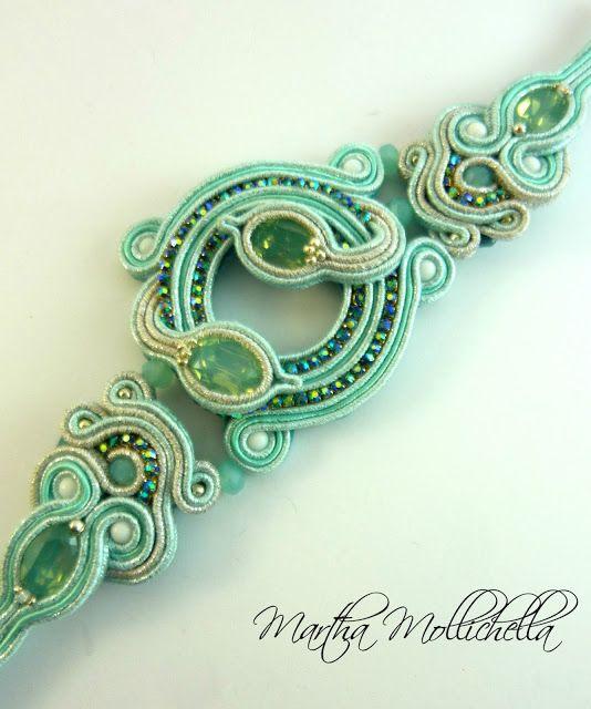 Martha Mollichella: Bracciale Soutache - Ocean Embrace