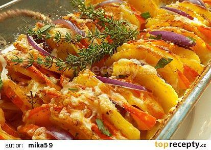 Gratinovaná dýně s bramborami recept - TopRecepty.cz