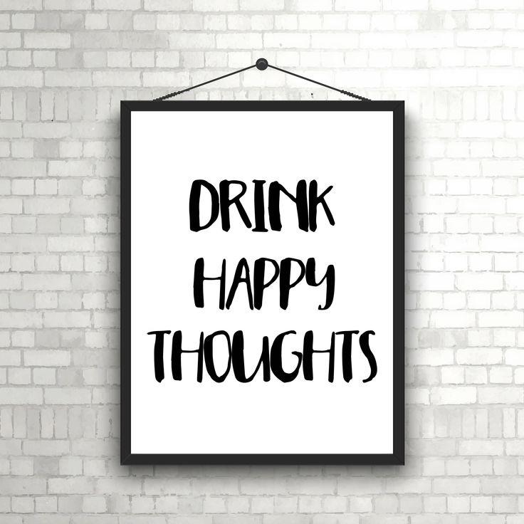 Alcohol Print, Kitchen Art, Drinking Quote, Alcohol Quote, Funny Alcohol Sign, Tequila Print, Kitchen Typography, Bar Cart Art Print by SassySmittyStudio on Etsy