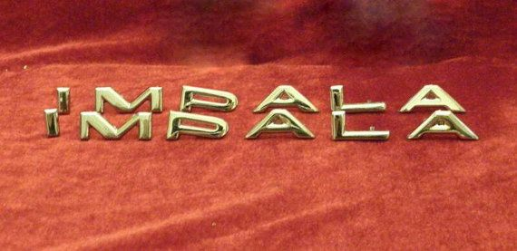 Check out this item in my Etsy shop https://www.etsy.com/listing/486066516/1964-chevy-impala-quarter-panel-letter