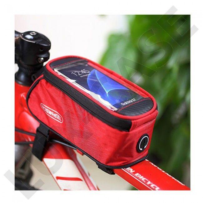 ROSWHEEL 4.8'' sykkelbag for Klart vindu designet for smarttelefon - Rød - GRATIS FRAKT!