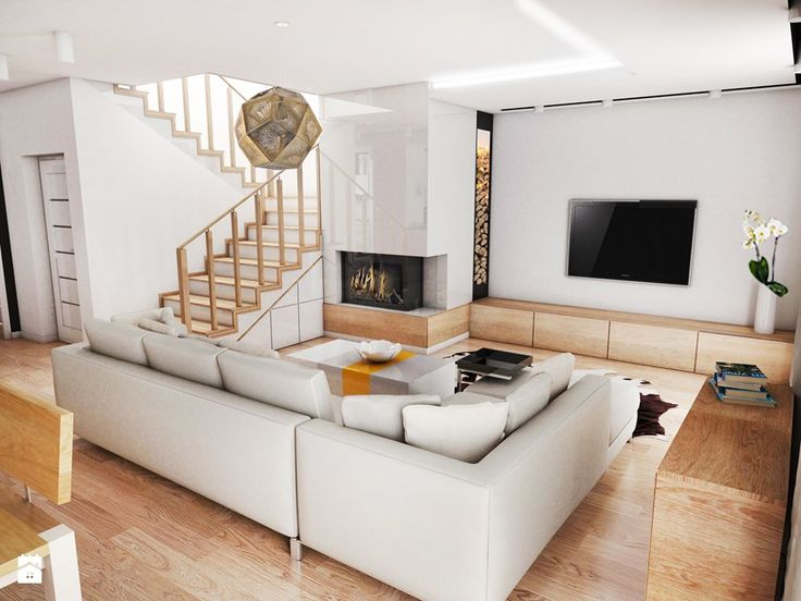 Salon styl Skandynawski Salon - zdjęcie od Futurum Architecture
