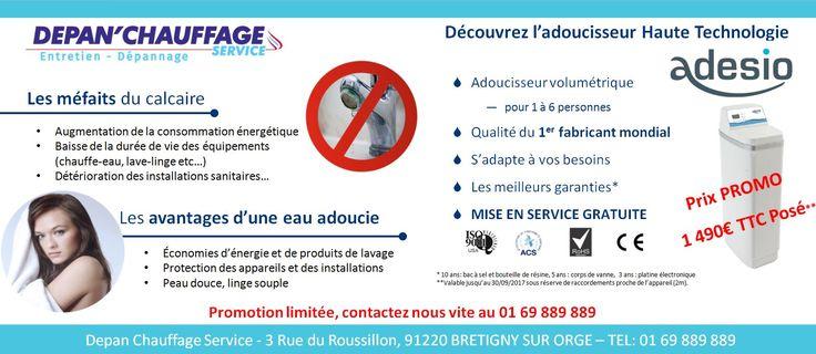 Visuel de promotion d'adoucisseur d'eau pour depanchauffage service