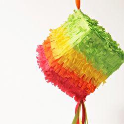 DIY mini piñatas for Cinco de Mayo, made from tissue boxes! #craftgawker