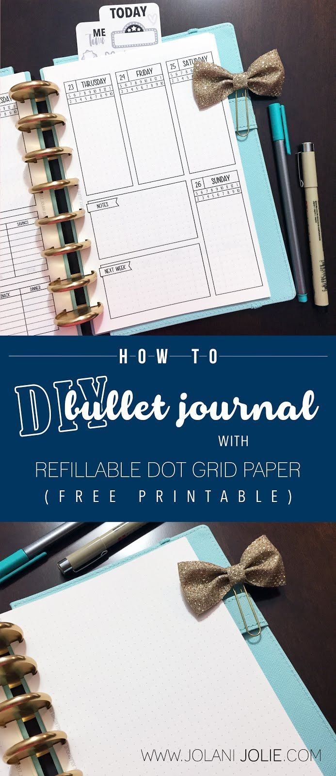 How To Diy Bullet Journal With Refillable Dot Grid Paper