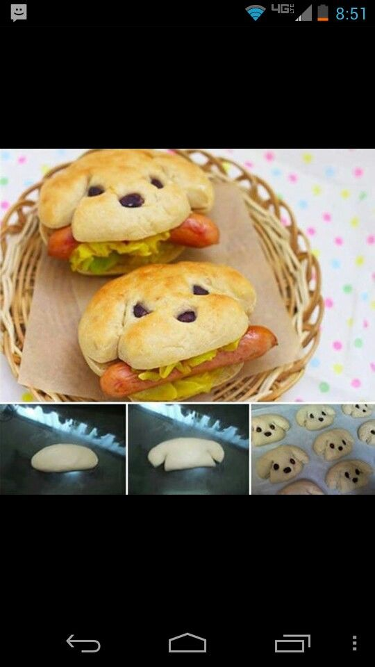 Kids snack idea : puppy hotdogs/ sandwiches