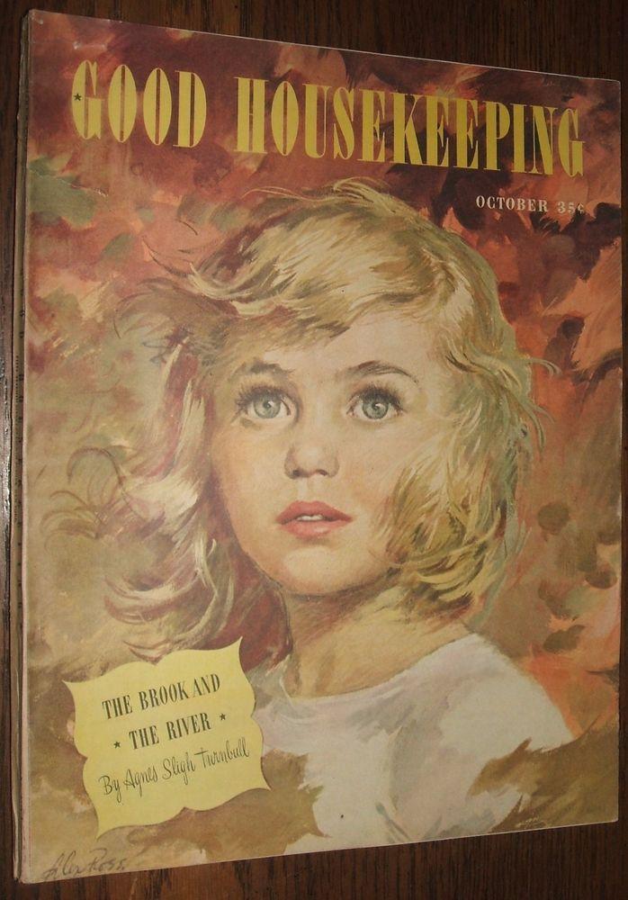 Good Housekeeping Magazine October 1945 Ava Gardener Ad, Booth Tarkington Story #GoodHousekeeping