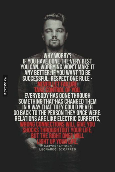 Leonardo DiCaprio on Worrying and Failure