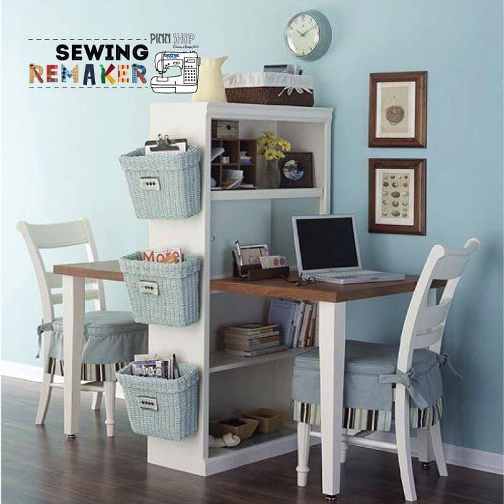 Home office organization- cute little double work space