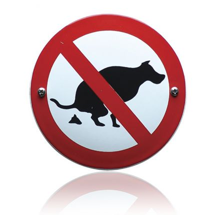 VG-12 emaille verbodsbord verboden uw hond hier uit te laten
