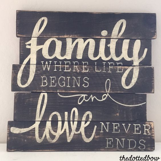A personal favorite from my Etsy shop https://www.etsy.com/listing/232752614/family-where-life-begins-love-never-ends