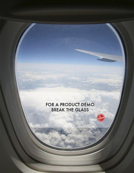Awesome Hoover ad...do NOT break the glass!