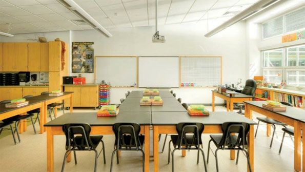 Elementary School Classroom Design | ... School Into A Green Facility |  Green Content From American School | Classroom Decor U0026 Design | Pinterest |  School ...