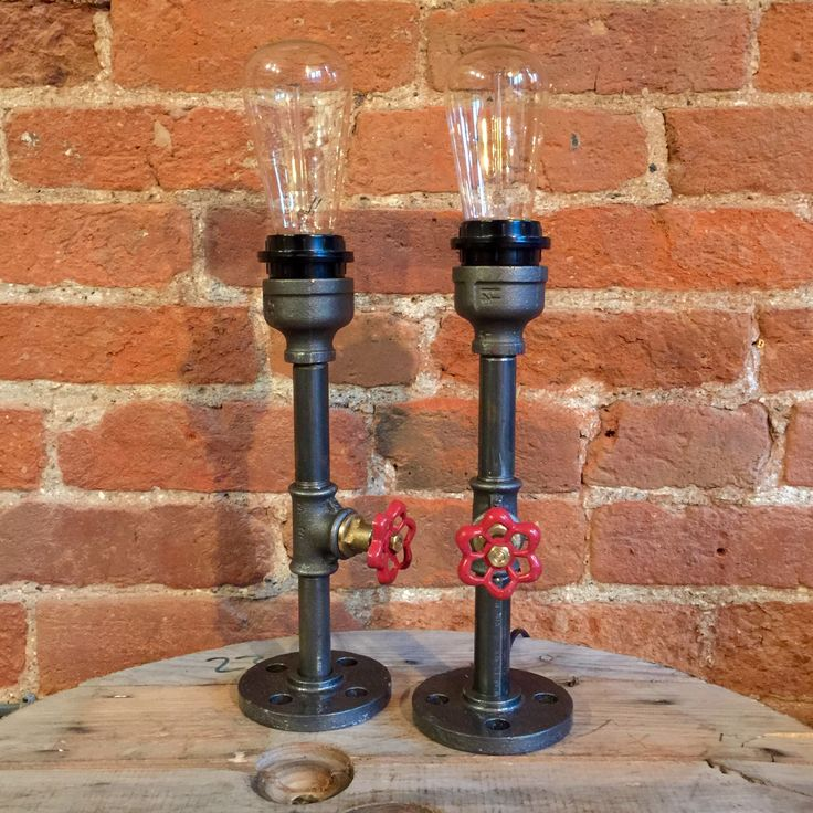Upcycled Candlestick Pipe Lamp  http://www.upcycledcreative.co.uk/buysomething/upcycled-candlestick-pipe-lamp