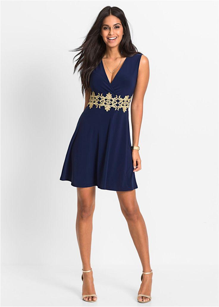 Dantel Detayl? Jarse Elbise lacivert - BODYFLIRT ?imdi bonprix.com.tr Online shop'ta ba?liyan 99,99 TL sipari? Bodyflirt marka, bel hizas? alt?n renginde ...