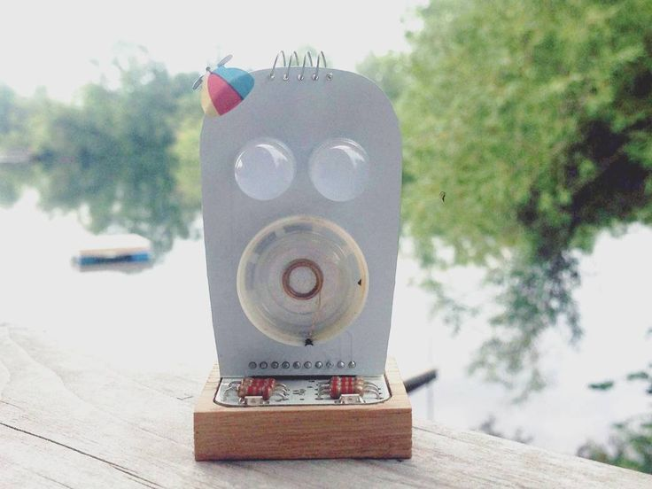 Ghosty at the cottage. So very Canadian! Check us out at http://www.littlerobotfriends.com/
