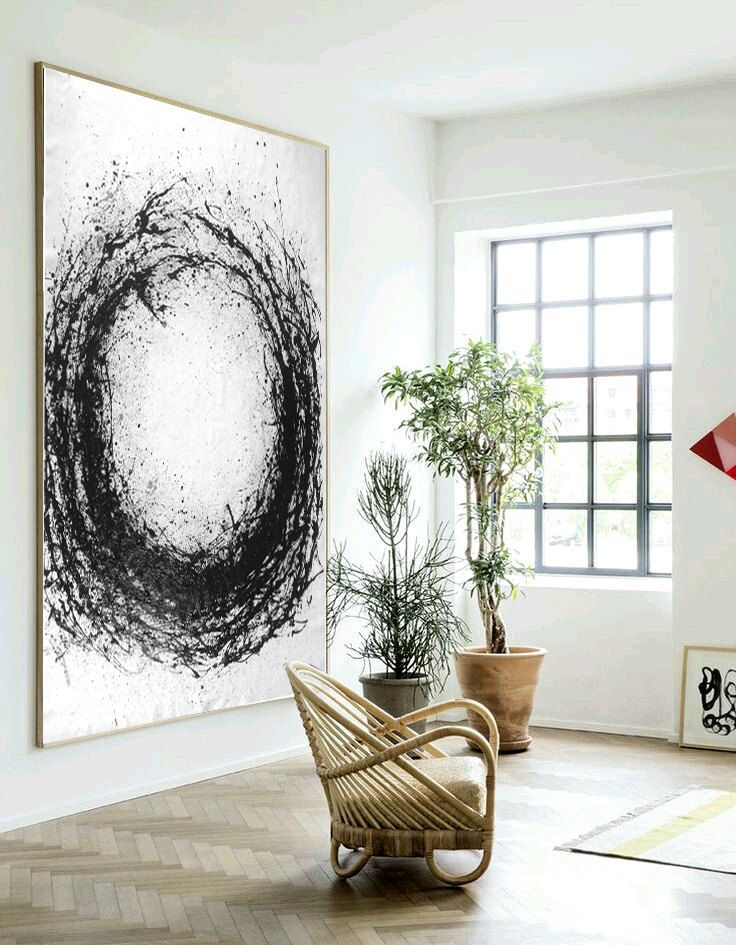 Large Abstract Art, Hand Made Acrylic Painting Minimalist Art, Abstract Painting…