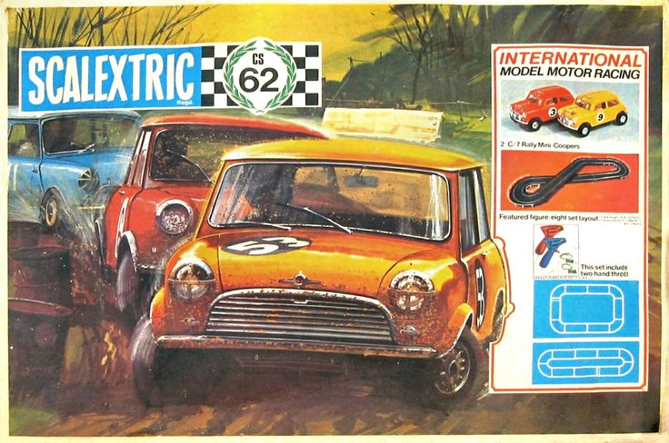 vintage scalextric - had the mini set, one of the best!