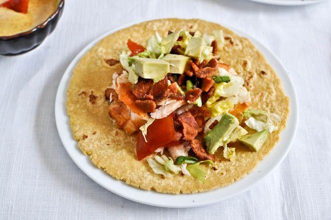 BLT Salmon Tacos   Recipe   Salmon tacos, Salmon and Yum yum