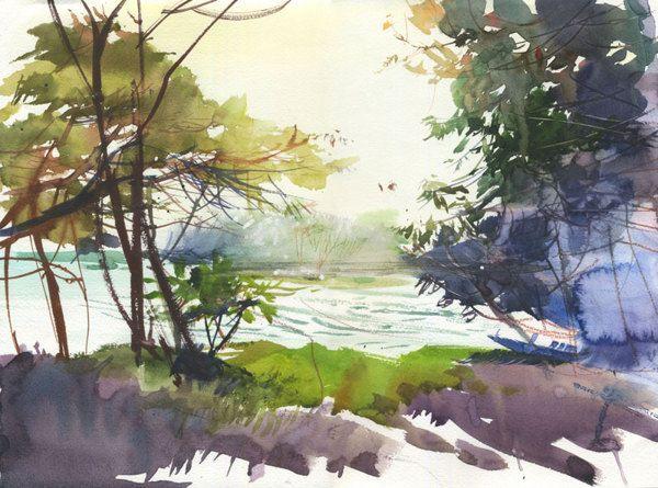 Watercolors from Sri-lanka 2013 by Veronika Kalacheva, via Behance
