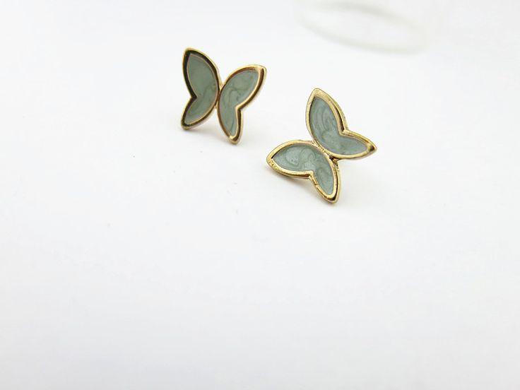 Boucle d'oreilles papillon email  BOFA05038