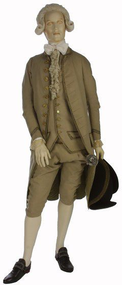 1775-1785, United Kingdom - Formal ensemble - Wool, trimmed with silver-gilt braid and silk twill, lined with silk, backed with wool, hand-sewn