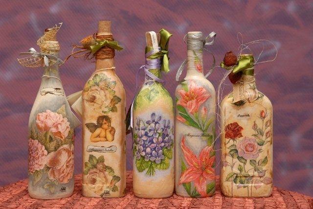 Decorando botellas