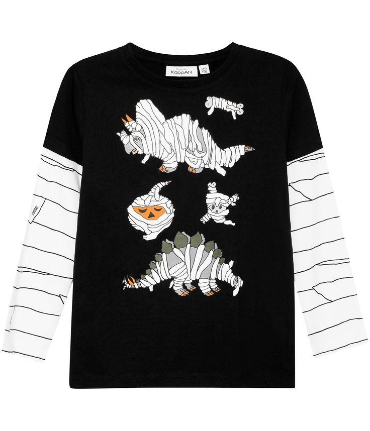 Dubbelärm tröja med print
