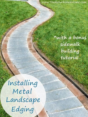 Create beautiful sidewalks and landscaping with Coyote Raw Steel Landscape Edging. This unfinished metal will create a natural patina to perfectly compliment your outdoor setting. From www.TheRefurbishedHome.com