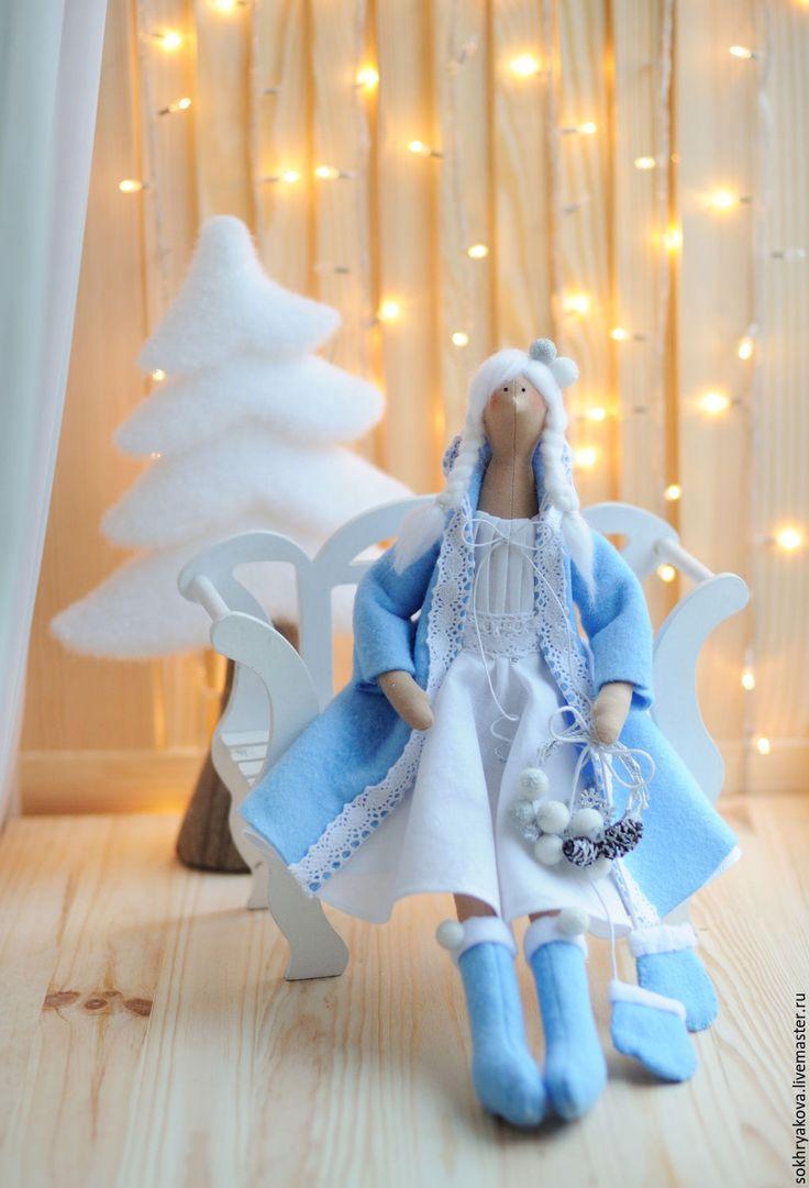 Купить Зимняя девочка в стиле Тильда. - комбинированный, тильда, кукла, зима, девочка, Декор, интерьер