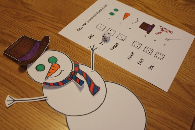 Toddler Approved!: Build a Snowman Dice Game