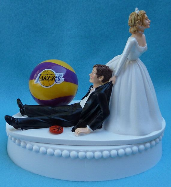 Hey, I found this really awesome Etsy listing at http://www.etsy.com/listing/118620507/wedding-cake-topper-los-angeles-lakers
