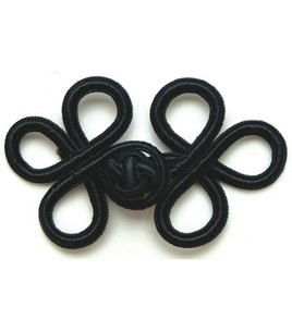 "Rayon Braid Frog Closure-Black 3""X1-3/4"": fasteners & buttons: sewing: Shop | Joann.com"