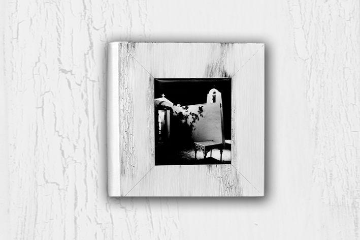 Vintage white wedding album