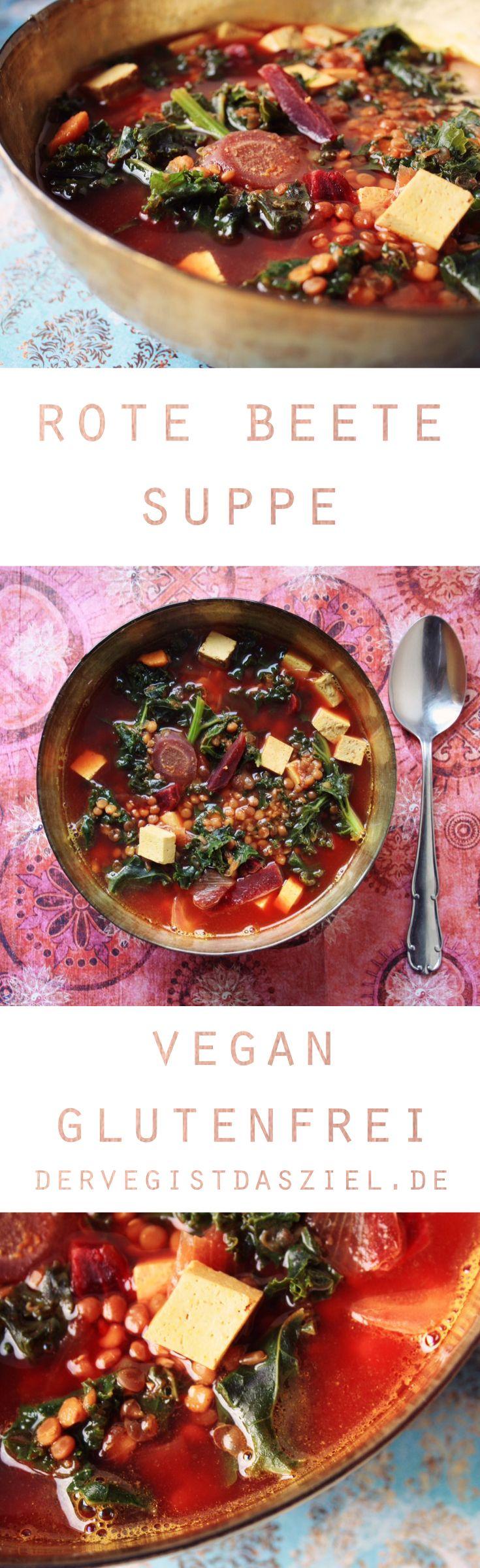 Rote Beete Suppe, vegan, glutenfrei