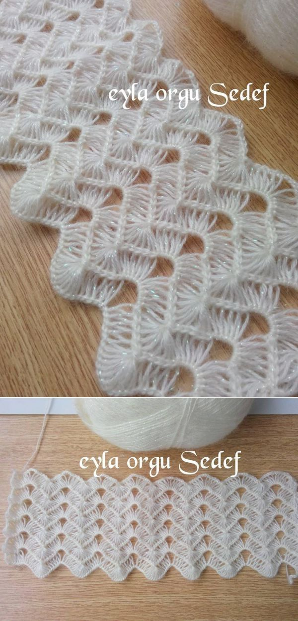 broomstick lace crochet Брумстик
