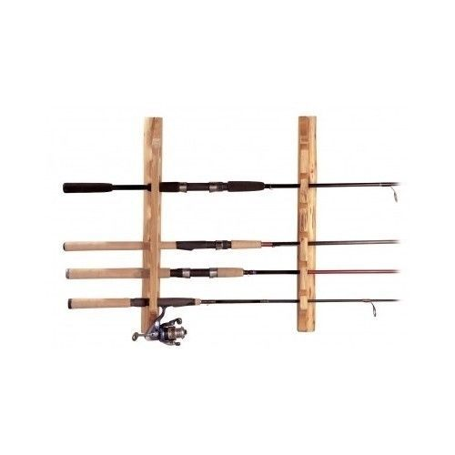 Fishing pole rack mount 6 rod holder horizontal storage for Horizontal fishing rod rack