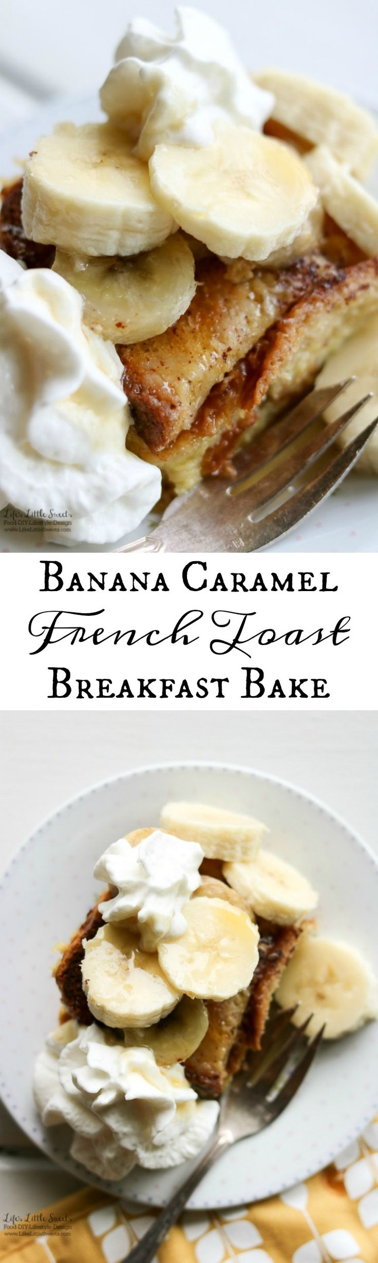 Banana Caramel French Toast Breakfast Bake is great one-pan dish for any breakfast or brunch gathering. It's a classic French toast bake with bananas as a twist and has sweet caramel flavor infused throughout. (dairy-free option) #ad #SilkandSimplyPureCreamers #CollectiveBias @walmart