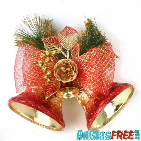 Christmas Red Double Bell Hang Decoration