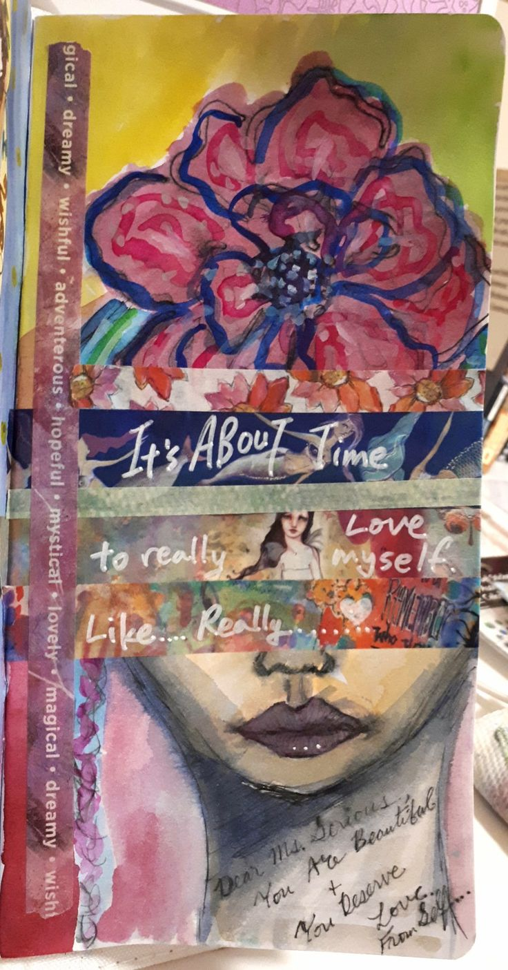 Using Jane Davenport washi tapes, stencil, watercolor