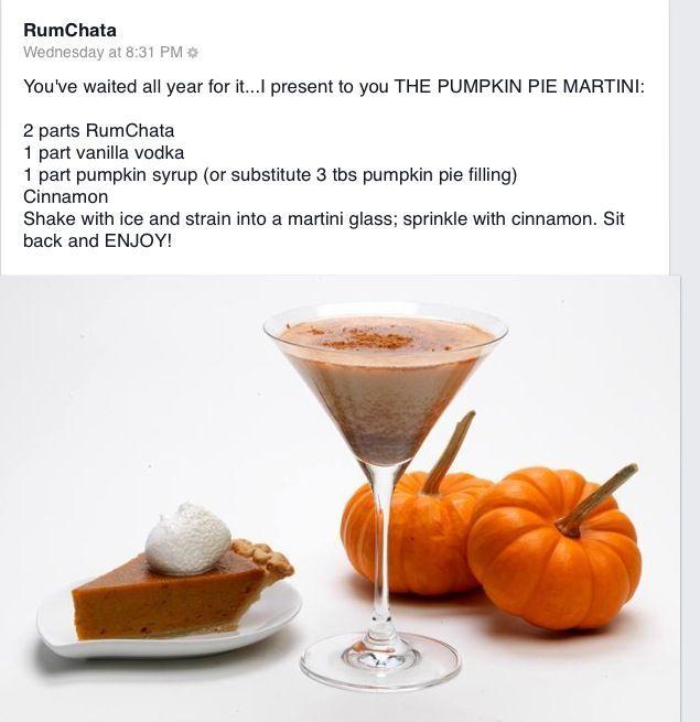 Pumpkin Martini With RUMCHATA!!!: