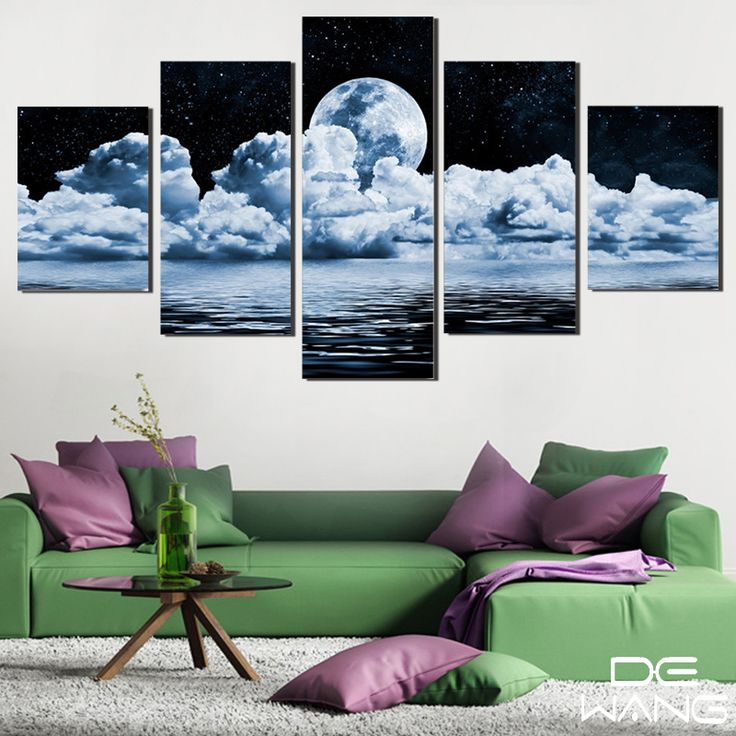 5 Piece Canvas Art Flower Abstract Poster And Prints White Moon Canvas Oil Paintings Wall Picture Living Room Wall Art Seascape. Yesterday's price: US $19.82 (16.43 EUR). Today's price: US $11.30 (9.18 EUR). Discount: 43%.