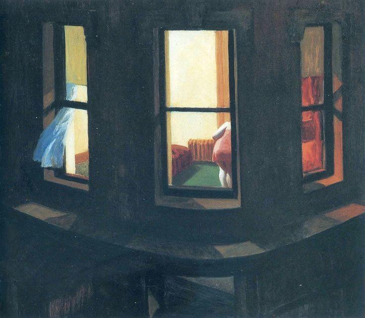 Edward Hopper (American, American Realism, 1882-1967): Night-Windows, 1928.