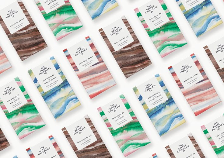 The Beautiful Watercolor of The Dorset Chocolate Company — The Dieline - Branding & Packaging Design