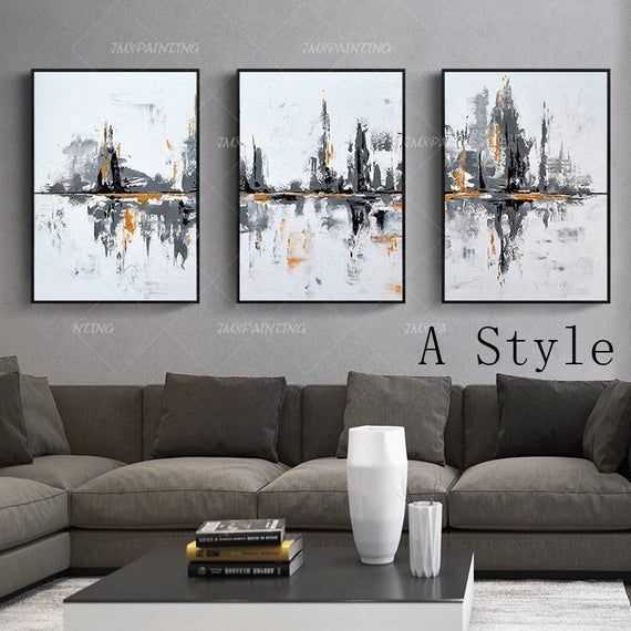 Framed Wall Art Mountain Painting Water Painting 3 Pieces Wall Etsy Abstraktnoe Iskusstvo Na Stenu Abstraktnye Kartiny Kartiny V Ramkah Na Stene