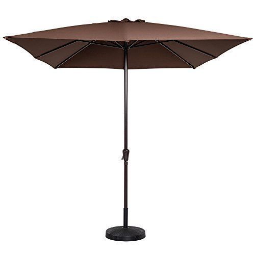 Patio Umbrella Garden Outdoor Fun Pool Summer Relaxing With Crank Canopy Sun New #PatioUmbrellaGardenOutdoor #Crank