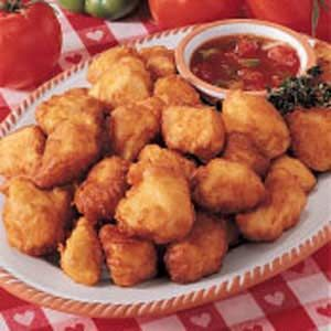Sweet-Sour Chicken Dippers. Got this recipe from my mom. She found it online and the chicken batter is just like the kind they use at Oriental restaurants. It's very good so I decided to hunt it down and pin it for future use :0)